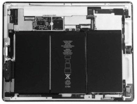 Batería y más batería: así es el interior del iPad 2