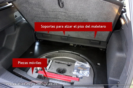 Ford Kuga 2013, maletero