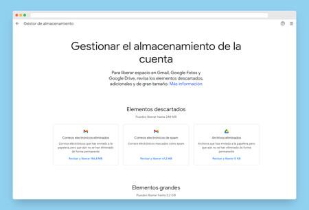 Almacenamiento Google Borrar Archivos