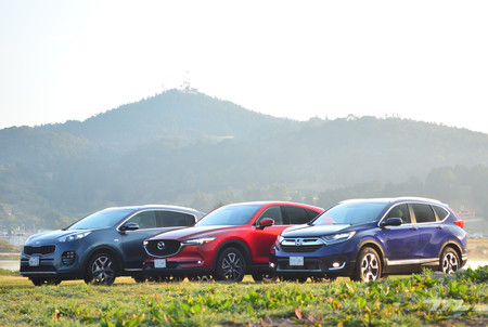 Comparativa: Honda CR-V vs. KIA Sportage vs. Mazda CX-5 (I)