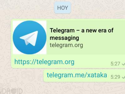 WhatsApp deja de censurar los enlaces a Telegram