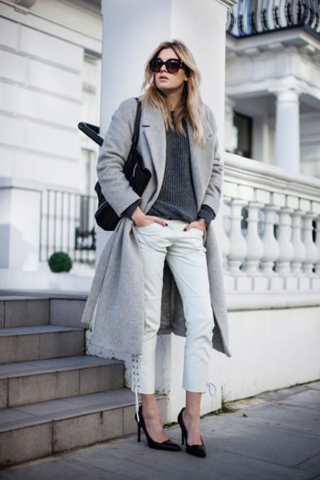 abrigo largo look semana