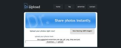 Dr. Upload, sistema de almacenamiento gratuito de imágenes de hasta 10 MB