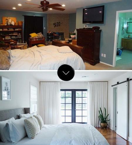 Antes y después: de dormitorio tenebroso a paraíso terrenal (y baño de ensueño)
