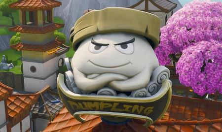 Desafío Fortnite: baila dentro de una cabeza de Tomatoide holográfica, Hamburrrguesa y Dumpling gigante. Solución