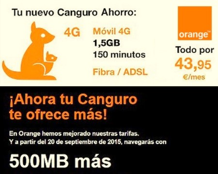 Nueva Canguro Orange con 500 MB más