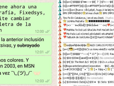 WhatsApp admite nuevas tipografías. Ya estamos otro paso más cerca de MSN Messenger