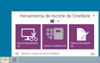 OneNote 2013 Herramineta de recorte