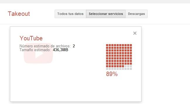 Google Takeout ahora permite bajar los vídeos originales que hayamos subido a YouTube