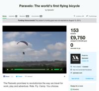 Paravelo, una bici voladora