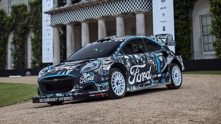 Ford Puma Rally1: el híbrido enchufable con el que Ford correrá el próximo WRC, debutó en Goodwood FOS