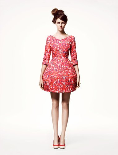 H&M catálogo: vestido salmon