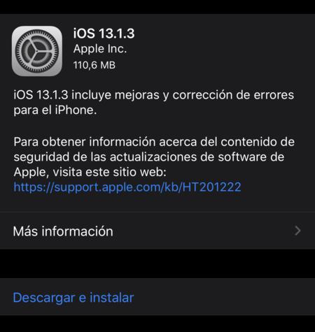 Ios 13 1 3