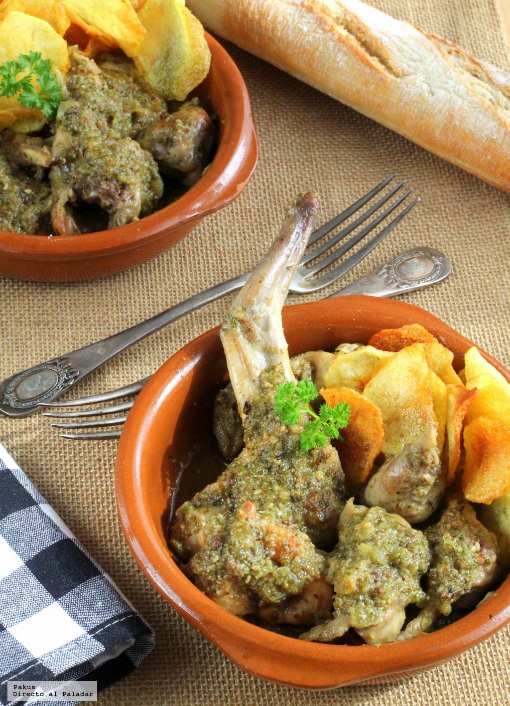 Conejo en salsa verde receta tradicional for Cocinar un conejo