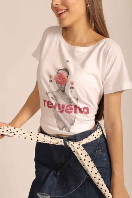 Camiseta Mujer Blanco Revuelta