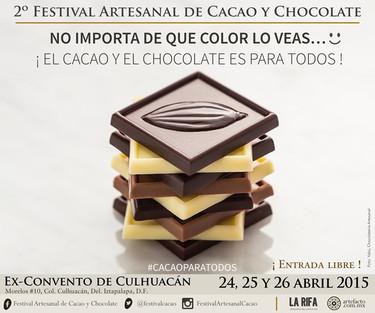 Este mes, no te pierdas el 2º Festival Artesanal de Cacao y Chocolate