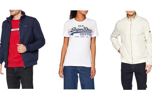 Chollos en tallas sueltas de camisetas, pantalones o chaquetas de marcas como Superdry, Wrangler o Pepe Jeans en Amazon