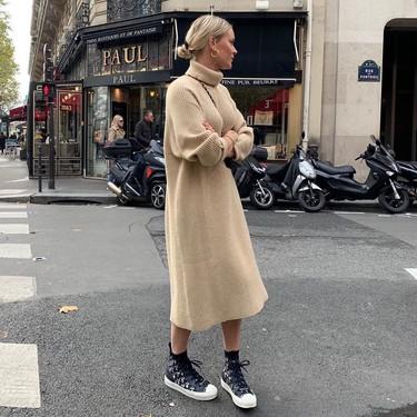 11 vestidos de punto de manga larga con los que decir adiós al frío sin perder un ápice de estilo