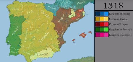 Toda la historia de la península ibérica año a año, resumida en seis minutos de mapa interactivo