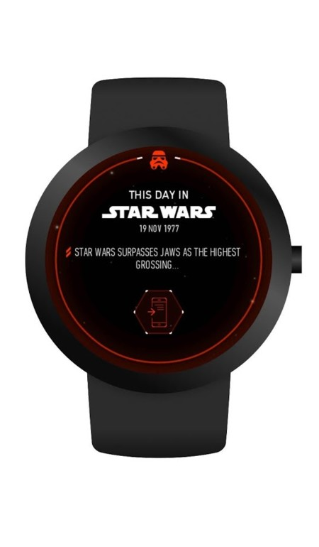 La fuerza te acompaña ahora también en tu Android Wear