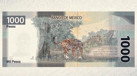 Nuevo Billete 1000 Mil Pesos Mexico Jaguar Reverso