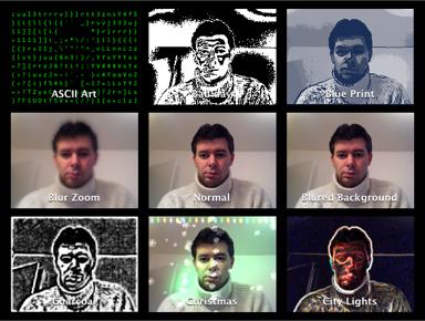 48 Nuevos efectos para iChat y PhotoBooth