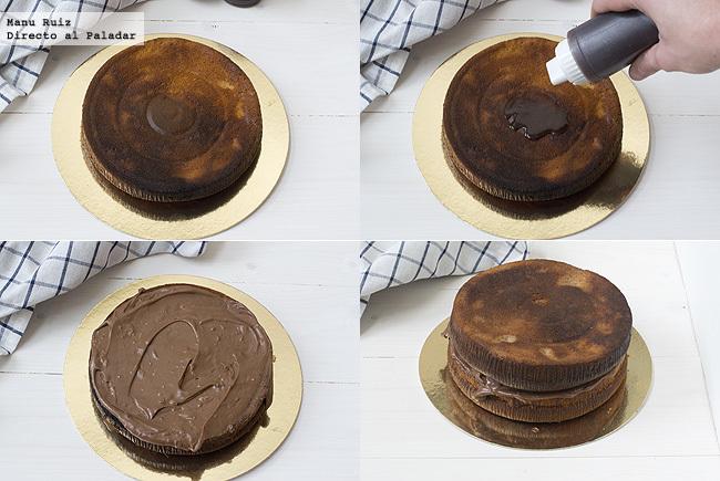 tarta de mascarpone y nutella paso a paso