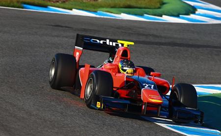Ramon Piñeiro Test Jerez GP2 Carlin