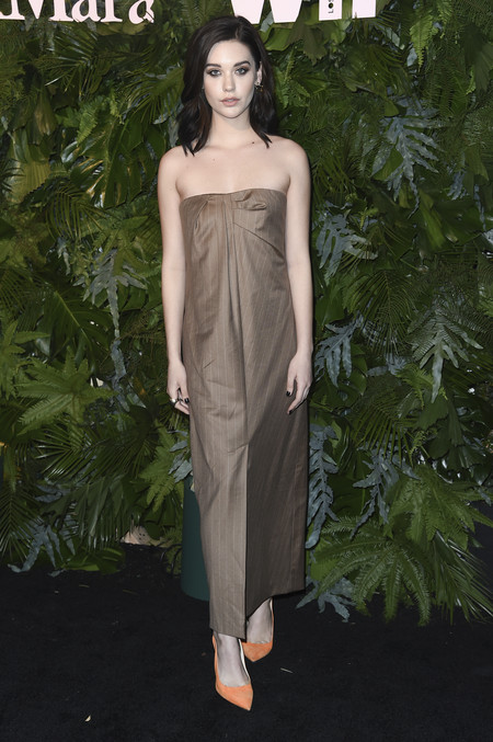 max mara vanity fair red carpet Amanda Steele