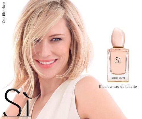 Cate Blanchett sigue encandilando con el (nuevo) perfume de Giorgio Armani: Eau de toilette Sí