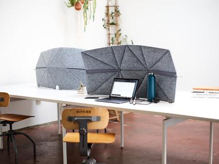Un escudo portátil para no ser molestado mientras trabajas fuera de la oficina