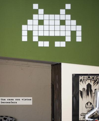 Invader con azulejos