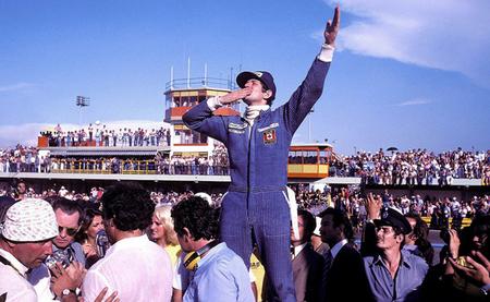 Jody Scheckter 1977 Argentina celebración