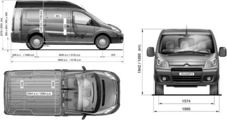 Citro n jumpy furg n 2 0 hdi blanca prueba parte 3 - Medidas interiores furgonetas ...