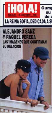 Confirmada la relación entre Alejandro Sanz y Raquel Pereda