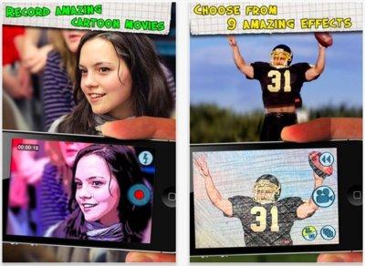 Cartoonatic, efectos de cómic para los vídeos de tus equipos iOS