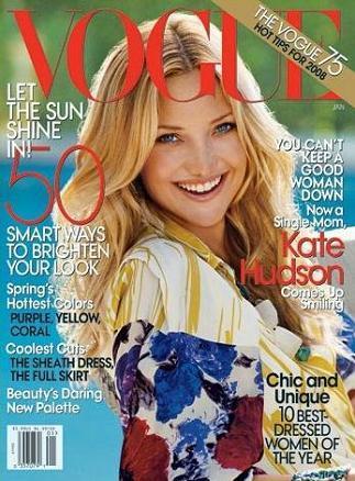 Kate Hudson para Vogue: de nuevo, más tirantes