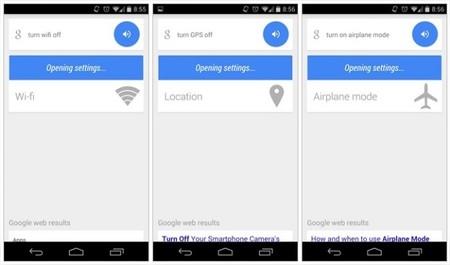 Google Now nuevas configuraciones