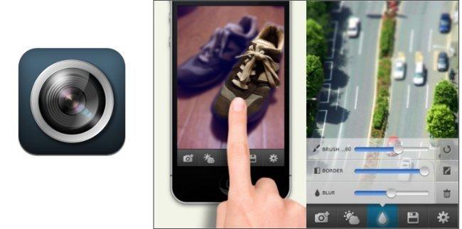 Finger Focus, desenfoque en iOS