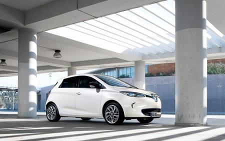 Renault ZOE blanco sombras