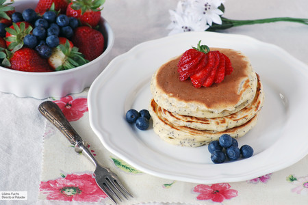 Tortitas de yogur y semillas de amapola: receta para un lujo de desayuno o merienda