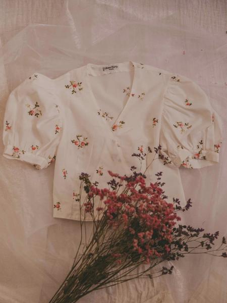 Blusas Florales Mangas Abullonadas