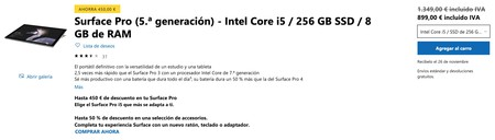 Surface Pro 5 A Generacion Intel Core I5 256 Gb Ssd 8 Gb De Ram