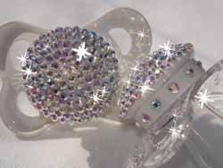 Chupetes con diamantes