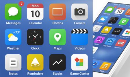 Iconos iOS 7 por JustD