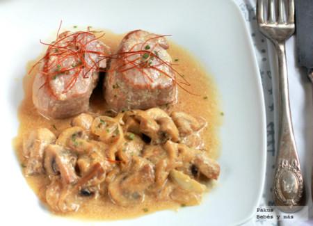 Receta Fácil De Solomillo De Cerdo Con Salsa De Champiñones