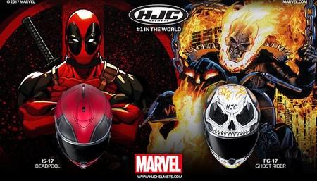 Deadpool y Ghost Rider se te suben a la cabeza, con dos nuevas decoraciones Marvel de HJC