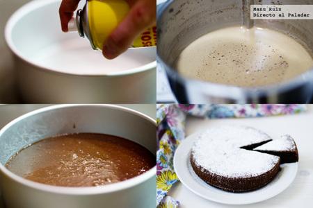 bizcocho húmedo de chocolate paso a paso