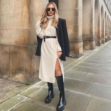 Siete vestidos de punto de H&M para marcarse un lookazo en otoño con unas botas altas y una americana