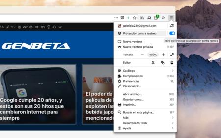 Firefox Anti Rastreo